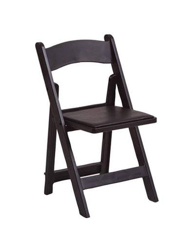 Indoor/Outdoor Poly Folding Chair, Black Frame & Vinyl Seat