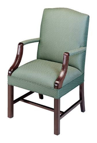 Martha Washington Traditional Guest Chair, Leather Upholstery