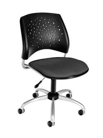 """Stars"" Swivel Chair with Fabric Seat"