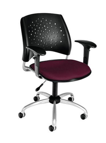 """Stars"" Swivel Chair with Arms, Fabric Seat"
