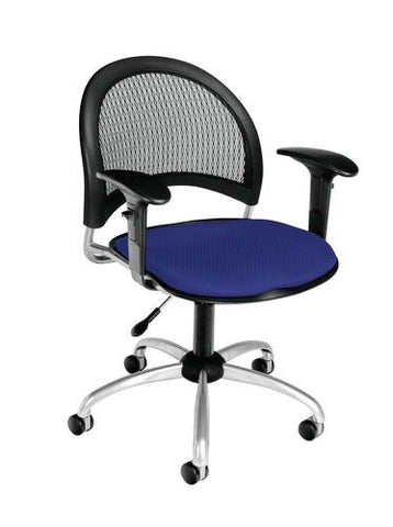 """Moon"" Swivel Chair with Arms, Fabric Seat"