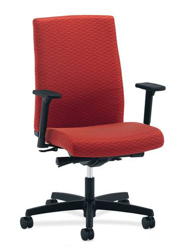 Hon® Ignition® Series Mid-Back Deluxe Synchro-Tilt Chair with Fabric Back u0026 Adjustable T-arms  sc 1 st  ATD-CAPITOL & Hon® Ignition® Series Mid-Back Deluxe Synchro-Tilt Chair with Fabric ...