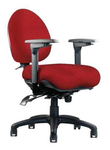 Mid-Back Optimal Performance Ergo Chair, Medium Seat, Moderate Contour