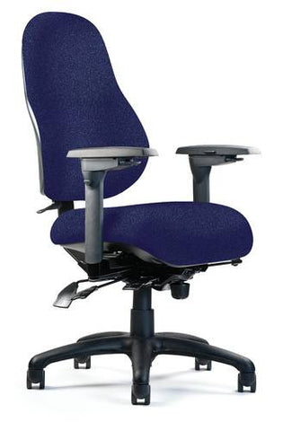 High-Back Optimal Performance Ergo Chair, Medium Seat, Minimal Contour