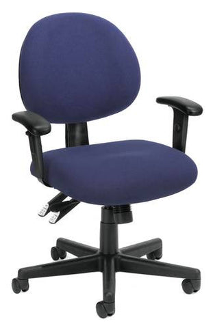 Adjustable 24-Hour Task Chair With Arms, Fabric Upholstery