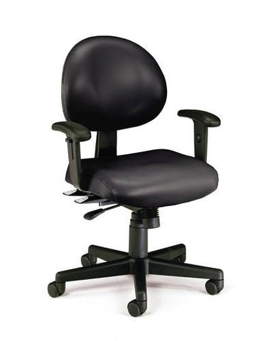 Adjustable 24-Hour Task Chair With Arms, Anti-Microbial Vinyl Upholstery
