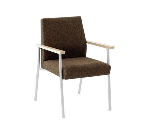 Mystic Series Guest Arm Chair, Healthcare Vinyl Upholstery