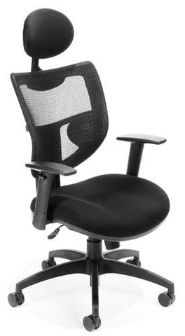 ComfySeat™ High Back Executive Chair with Mesh Back and Headrest