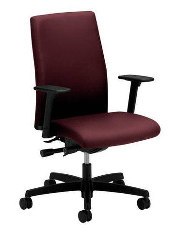 Ignition® Series Mid-Back Deluxe Synchro-Tilt Chair with Seat Slider, Fully Upholstered, Grade 3 Fabric