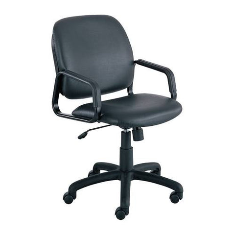 Cava® Urth™ Series High Back Chair, Black Vinyl Upholstery