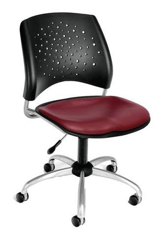 """Stars"" Swivel Chair with Vinyl Seat"