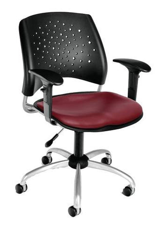 """Stars"" Swivel Chair with Arms, Vinyl Seat"