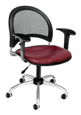 """Moon"" Swivel Chair with Arms, Vinyl Seat"