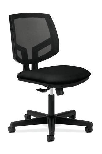 volt task chair without arms standard fabric seat black mesh back