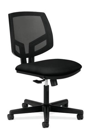 Volt® Task Chair without Arms, Standard Fabric Seat, Black Mesh Back