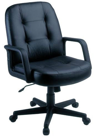 Mid-Back Leather Swivel Chair