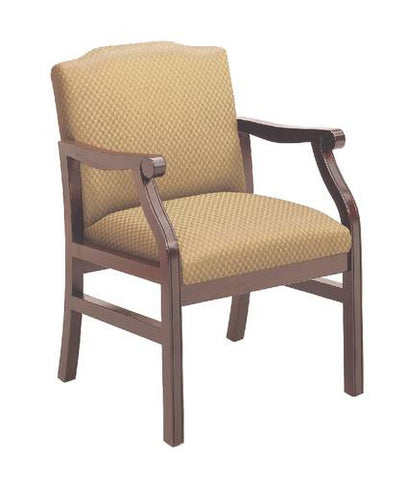Traditional Modular Guest Chair, Heavy-Duty Patterned Fabric Upholstery