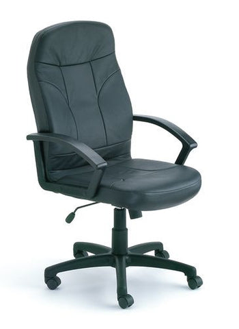 Popular Leather Upholstery High-Back Chair
