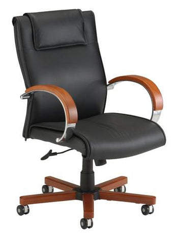 Apex Mid-Back Leather Swivel-Tilt Chair