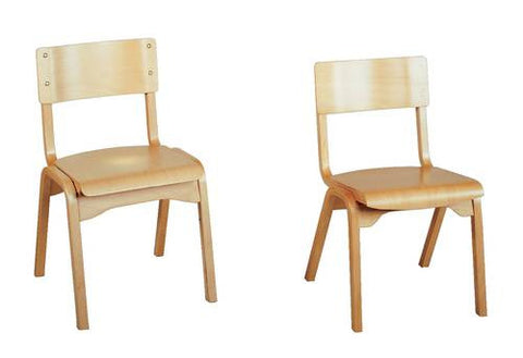 "All Wood Stacking Chair, 18"" Seat Height"