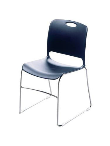 Maestro Contoured Stacking Chair with Non-Ganging Glides