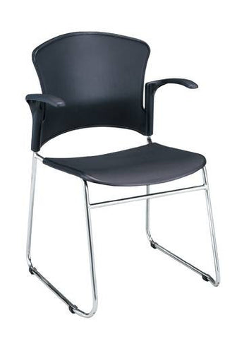 Coronet Stacking Arm Chair with Plastic Seat & Back