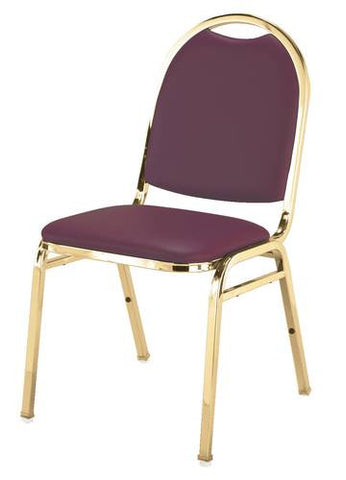 "Elegant Stacking Chair, 1-1/2"" Thick Seat, Vinyl Upholstery"