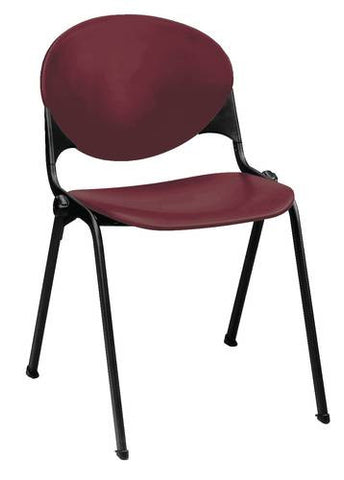 Contoured Poly Stack Side Chair