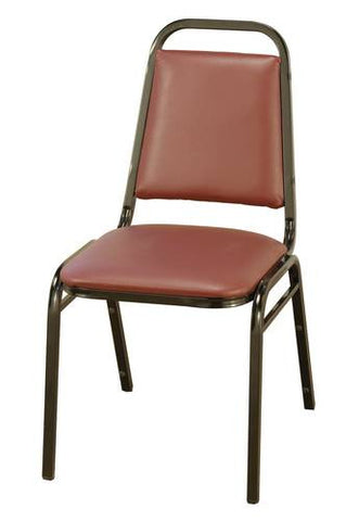 "Vinyl-Upholstered Stacking Chair, 1-1/2"" Seat"