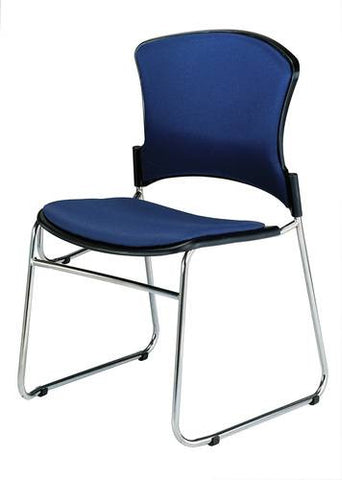 Coronet Stacking Chair with Padded Seat & Back, Fabric Upholstery