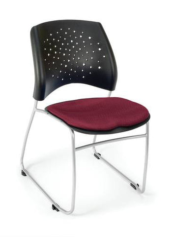 """Stars"" Stacking Chair, Fabric Seat"