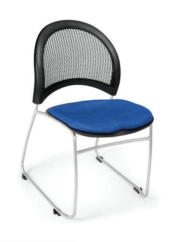 """Moon"" Stacking Chair, Fabric Seat"