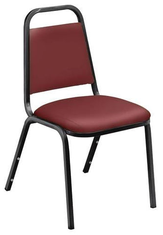"Economy Stacking Chair, 1-1/2"" Thick Vinyl Seat"