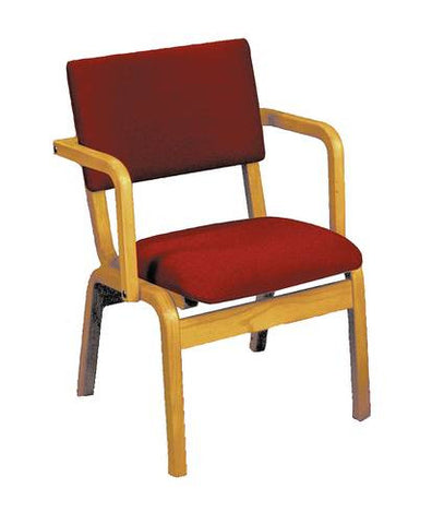 Solid Wood Chair with Arms