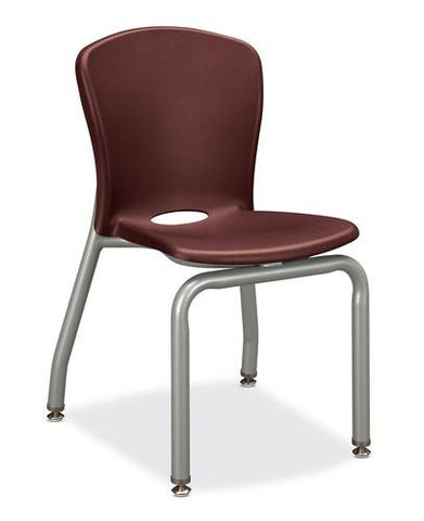 "Accomplish® Stacking 4-Leg Chair, 16"" Seat Height"