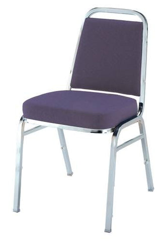 "Vinyl-Upholstered Stacking Chair, 2"" Seat, Chrome Frame"