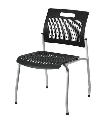 Adapt Stacking Chair, Black Ventilated Polypropylene Seat and Back