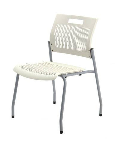 Adapt Stacking Chair, Ventilated Polypropylene Seat and Back