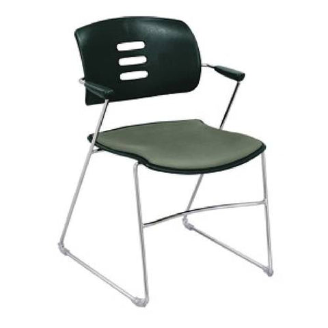 Agiliti™ Flex Back Stacking Arm Chair, Polypropylene Back, Upholstered Seat