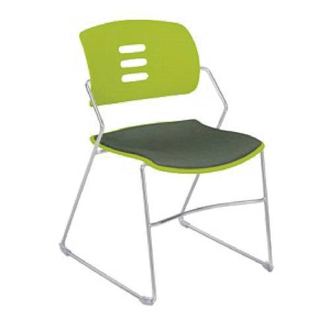 Agiliti™ Flex Back Stacking Chair, Polypropylene Back, Upholstered Seat
