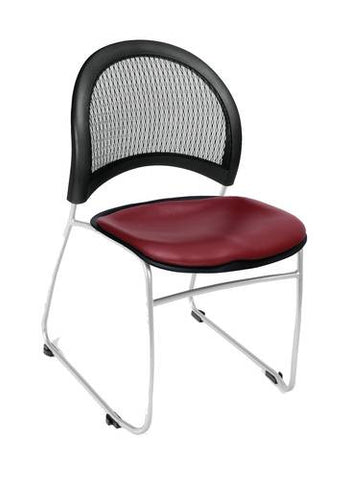 """Moon"" Stacking Chair, Vinyl Seat"