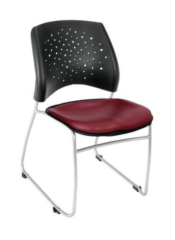 """Stars"" Stacking Chair, Vinyl Seat"