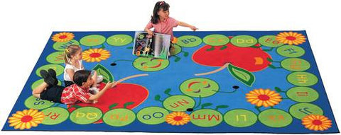 "ABC Caterpillar Rug, Rectangular, 4' 5"" W x 5' 10"" D"