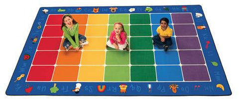 "Fun with Phonics Carpet, Rectangular, 7' 6"" x 12'"