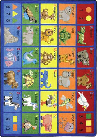 "Animal Phonics™ Carpet, 5'4"" x 7'8"" Rectangular"
