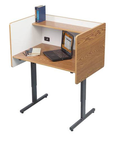 Adjustable Height Study Carrel