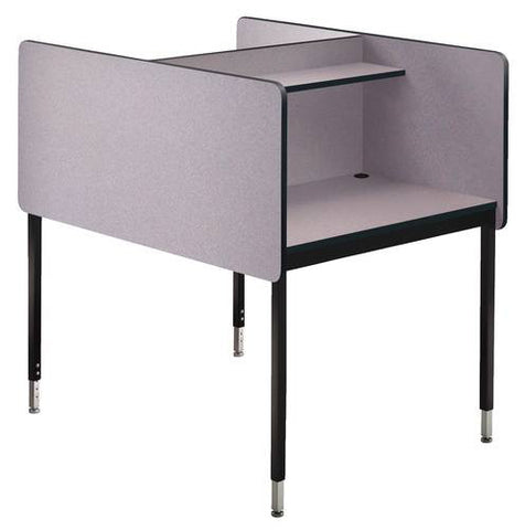 Double-Sided Add-On, Adjustable Height Modular Study Carrel