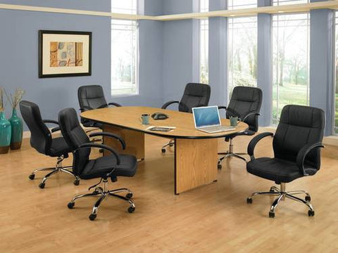 "Stimulus Series Conference Grouping: 6 Mid-Back Chairs with 72"" Oval Table"