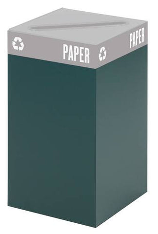 Public Square® Recycling Receptacle Base, 25 Gallon