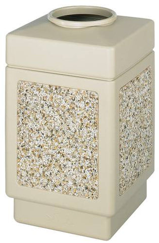 Aggregate Panel Outdoor Plastic Receptacle, Top Opening, 38 Gal. Capacity